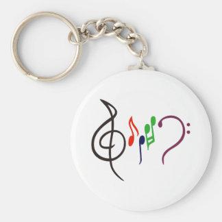 Porte-clés Logo abstrait de musique