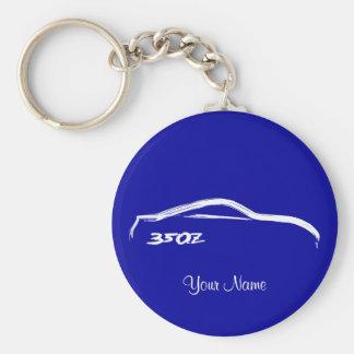Porte-clés Logo blanc de course de brosse de Nissan 350Z sur