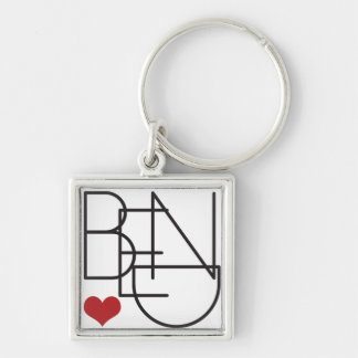 Porte-clés Logo de coeur de mot de l'Orégon de courbure