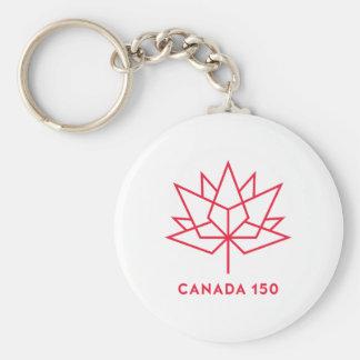 Porte-clés Logo de fonctionnaire du Canada 150 - contour