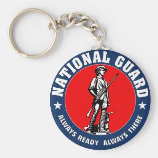 Porte-clés Logo de militaires de garde nationale d'armée