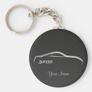 Porte-clés Logo de traçage de Nissan 350Z avec la fibre de