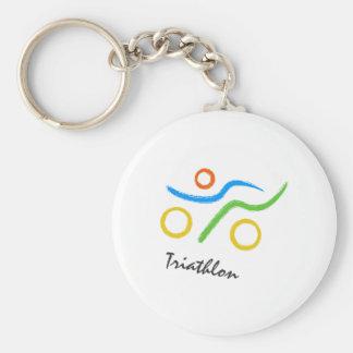 Porte-clés Logo de triathlon