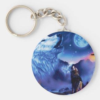 Porte-clés Loup de Howlin - loup blanc - art de loup - loup