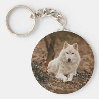 Porte-clés Loup en automne