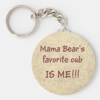 Porte-clés L'petit animal préféré de maman Bear's est MOI