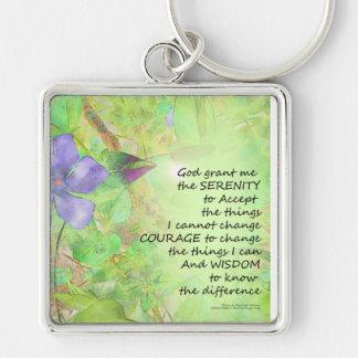 Porte-clés Lueur de Vinca de prière de sérénité