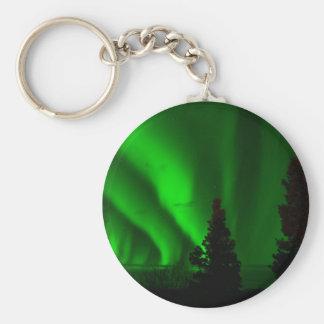Porte-clés Lumières du nord vertes