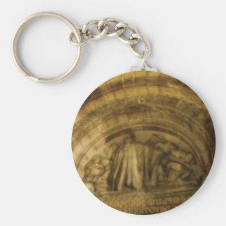 Porte-clés maçonnerie jaune de voûte