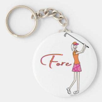 Porte-clés Madame Collection de plage de Golfer_Palm