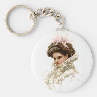 Porte-clés Madame dans le profil