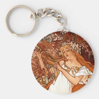 Porte-clés Madame décorative avec le porte - clé de fleurs -