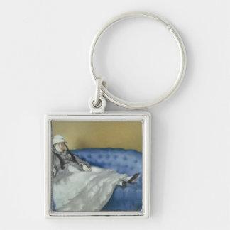 Porte-clés Madame Manet sur un sofa bleu, 1874 de Manet |