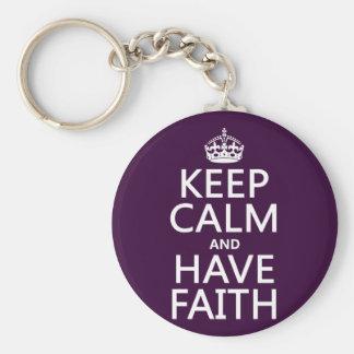 Porte-clés Maintenez calme et ayez la foi (les couleurs