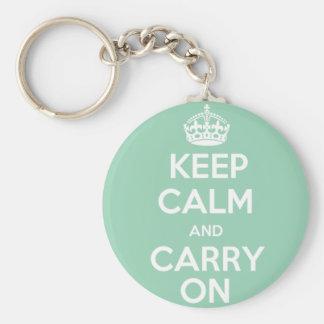 Porte-clés Maintenez calme et continuez le porte - clé