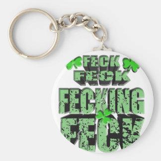 Porte-clés majorité verte avec le shamrock