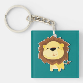 Porte-clés Mâle heureux de lion de bande dessinée avec