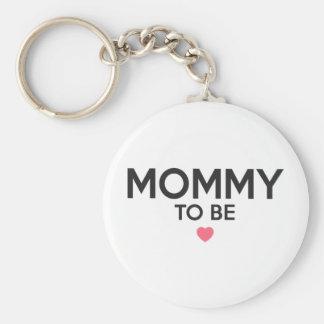 Porte-clés Maman à être copie mignonne