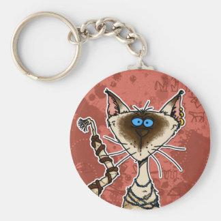 Porte-clés maman de chat