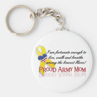 Porte-clés Maman fière d'armée