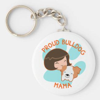 Porte-clés Maman fière de bouledogue