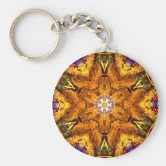 Porte-clés Mandala coloré multi d'or