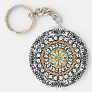 Porte-clés Mandala contrasté