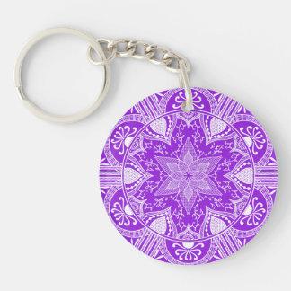 Porte-clés Mandala d'améthyste