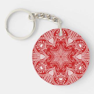 Porte-clés Mandala de cerise
