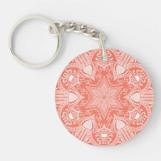 Porte-clés Mandala de papaye