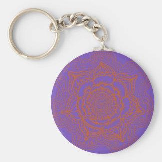 Porte-clés Mandala d'orange de lavande