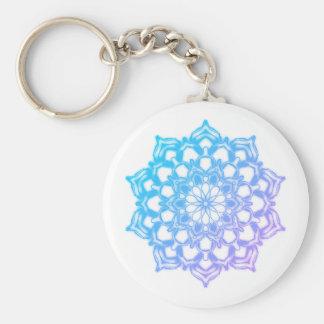 Porte-clés Mandala Fleur Bleue