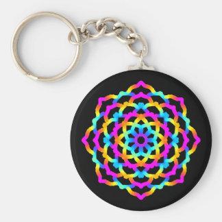 Porte-clés Mandala Multicolore Psychédélique