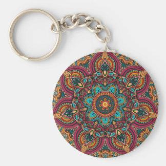"""Porte-clés Mandala Trippy 2,25"""" porte - clé de base de bouton"""
