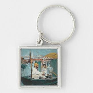 Porte-clés Manet | Monet dans son studio de flottement, 1874