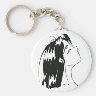 Porte-clés manga noir&blanc