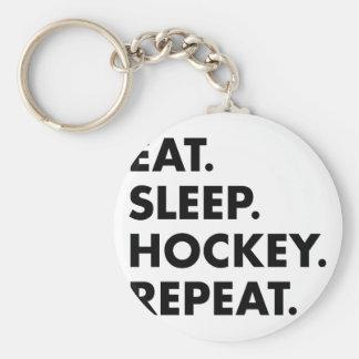 Porte-clés Mangez la répétition d'hockey de sommeil