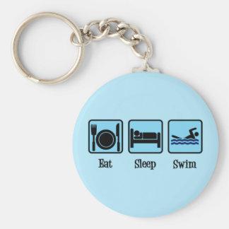 Porte-clés Mangez le bain de sommeil