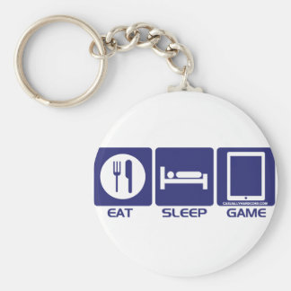 Porte-clés Mangez le jeu de sommeil