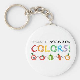 Porte-clés Mangez vos couleurs !