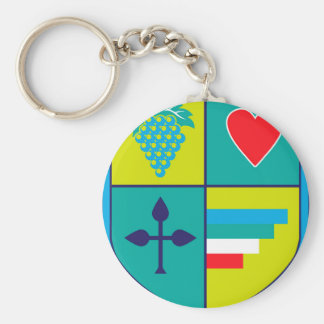 Porte-clés Manteau des raisins de bras et de bouclier de