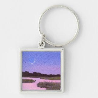 Porte-clés Marais de crépuscule de croissant de lune et de
