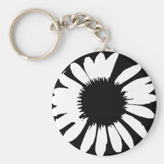 Porte-clés Marguerite folle - marguerite noire et blanche