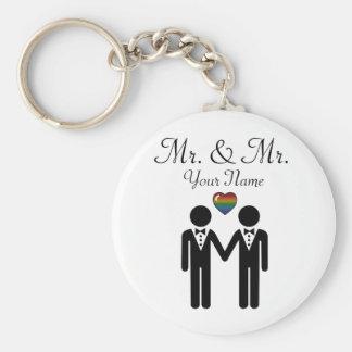 Porte-clés Marié de silhouette et marié - grands