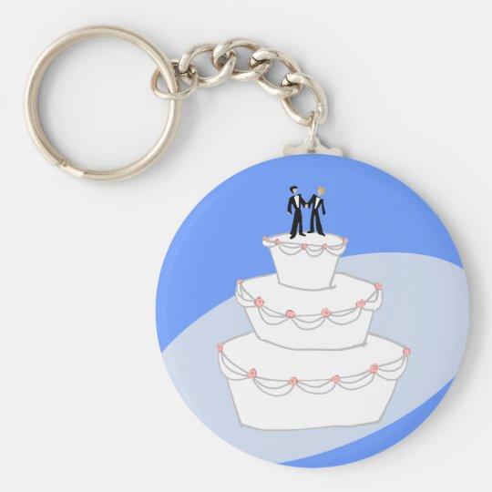 Porte-clés Mariés du gâteau de mariage deux