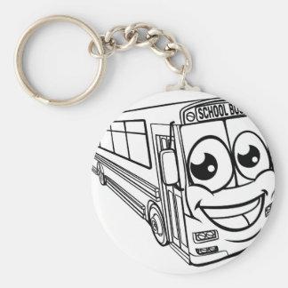 Porte-clés Mascotte d'autobus scolaire de personnage de