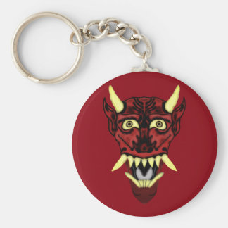 Porte-clés masque de démon de hannya