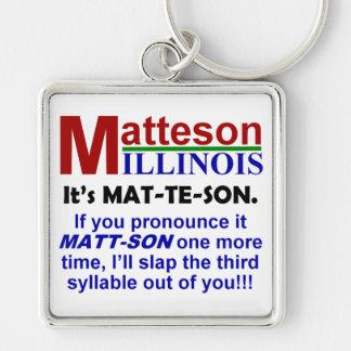 Porte-clés Matteson, l'Illinois
