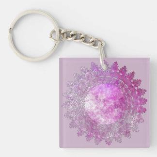 Porte-clés Mauve de lumière avec le porte - clé rose de