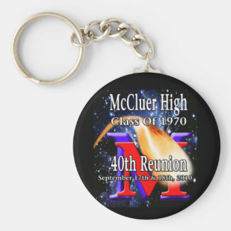 Porte-clés McCluer de première qualité 'du quarantième porte